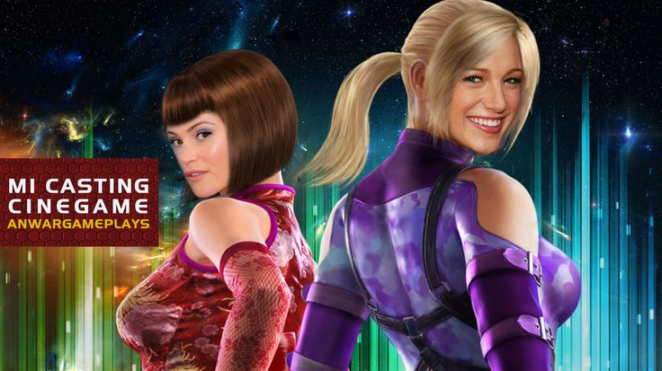 Gemma Arteton y Blake Lively como Anna y Nina Williams (Tekken)