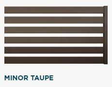 #Ogrodzenie #FENZ system  MINORkolor #Taupe
