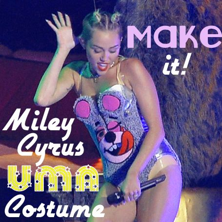 Make a Miley Cyrus VMA costume... twerk bears and all! From Rain Blanken, DIY Fashion Expert and Miley fan. <3