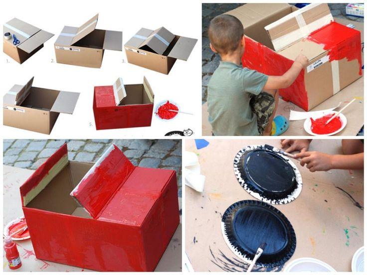 Avec du carton, des assiettes en papier et un peu de peinture, recréez Flash McQueen! - Trucs et Bricolages