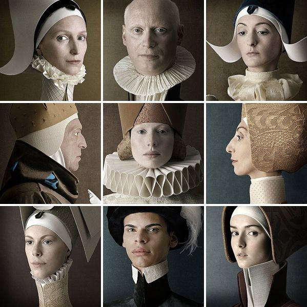 """These Renaissance nine portraits are parts of photo project called """"1503″"""