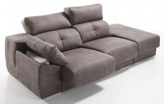 Sofá 2 plazas + módulo arcón 231 cm. con asientos deslizantes y arcón, brazo con arcón, respaldos deslizantes y cabezales reclinables.