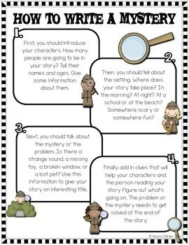 WRITING MYSTERY STORIES NOTEBOOK AND ACTIVITIES - TeachersPayTeachers.com