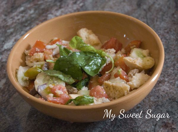 My Sweet Sugar: Panzanella toscana speedy recipe