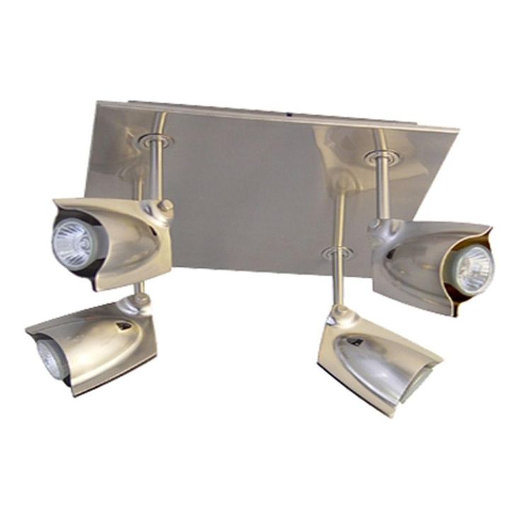 bazz accent 14 chrome square ceiling track lighting fixture with 4 spot pr4004ch at ceiling spot lighting
