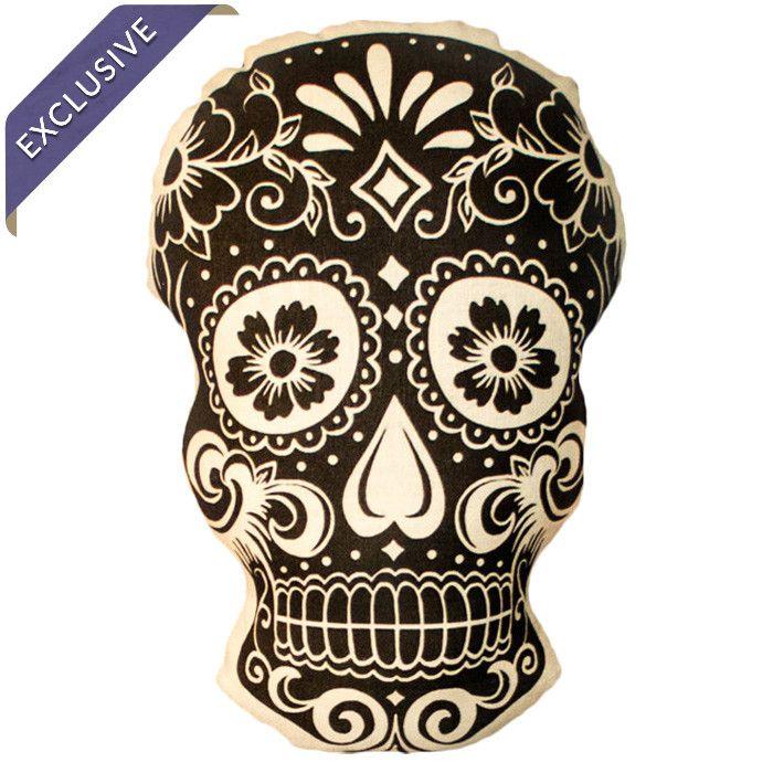 Love this sugar skull inspired pillow from La Calavera for Joss & Main