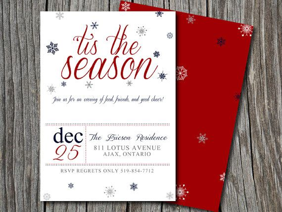 The 25+ best Christmas dinner invitation ideas on Pinterest - free printable dinner party invitations