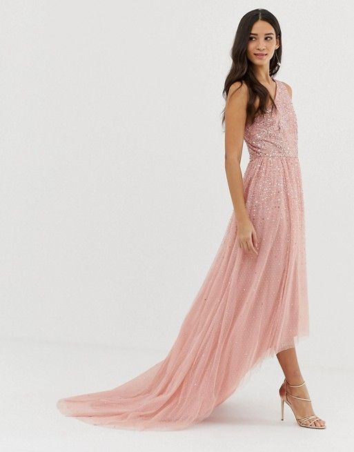 a6d6ccaf89308c Dolly   Delicious one shoulder embellished high low prom maxi dress in pink
