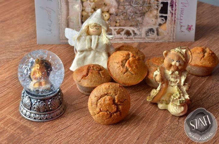 Gluténmentes, laktózmentes, hozzáadott cukormentes paleo karácsonyi-mézeskalács muffin       Paleo mézeskalács muffin    Recept:  3 tojást, vanília őrleményt, bio citromhéj őrleményt, 1 tk. Szafi Fitt mézes sütemény fűszertv. mézes keksz fűszert, édesítőt ízlés szerint (nálam