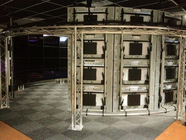 assembled display columns