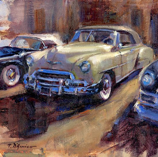 Best Old Cars Trucks Paintings Images On Pinterest Vintage