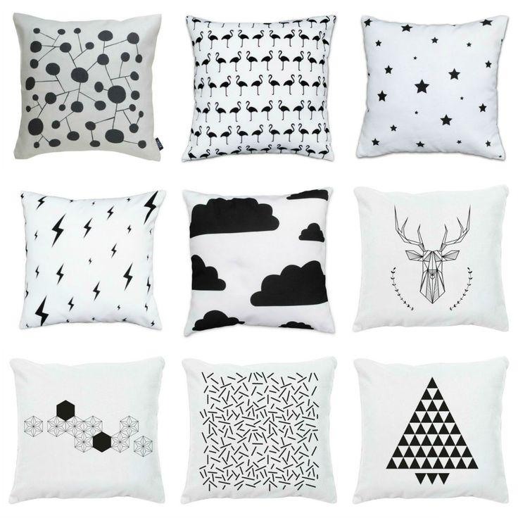 Des coussins 100% noir & blanc
