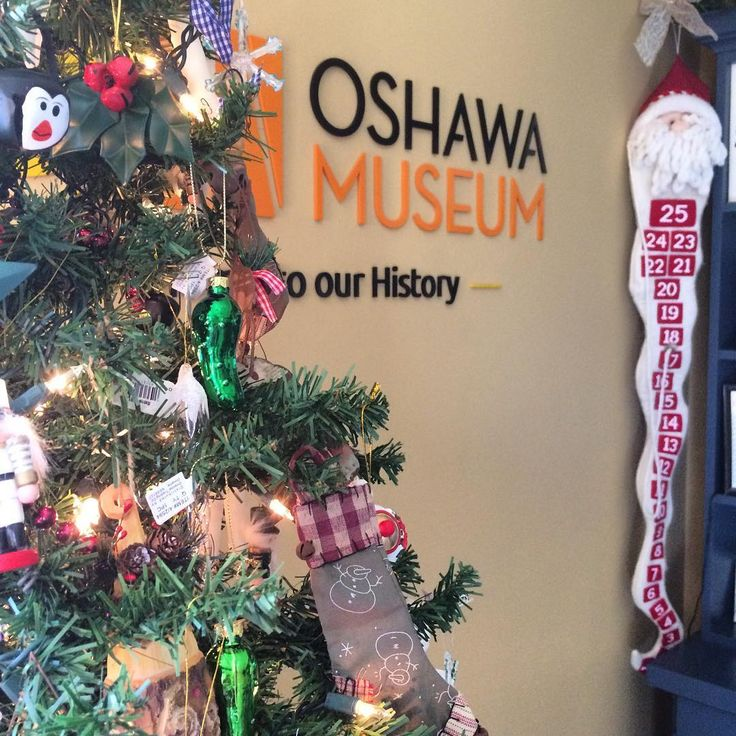 Our Museum Shop is looking a little more festive!  #oshawa #oshawamuseum #christmas #holidays #ornaments #shoplocal #museumlife