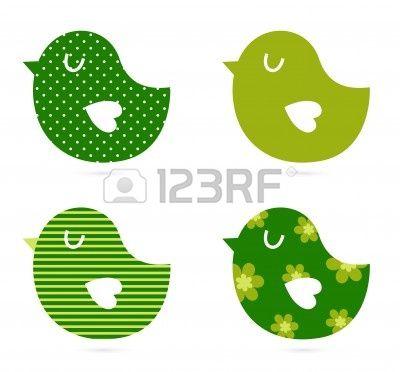 Retro patroon vogels. Vector Illustratie Stockfoto - 12839128