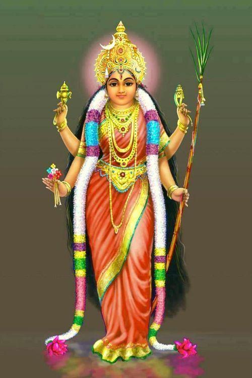 Goddess Lalita Tripura Sundari - Shri Vidya,The Goddess of 16 arts,Tantric Parvati
