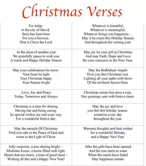 Business Christmas Verses free Printable Cards 2015                                                                                                                                                                                 More