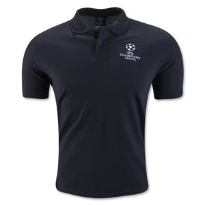 UEFA Champions League Polo (Black) - WorldSoccerShop.com