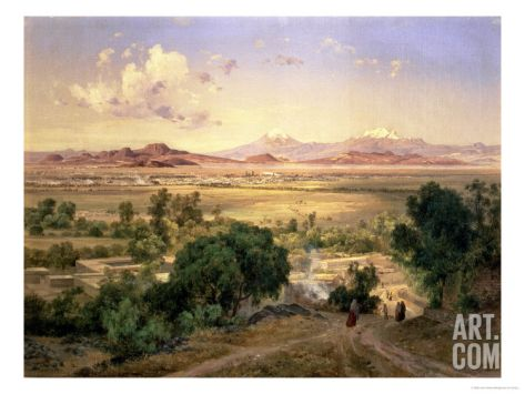 The Valley of Mexico from the Low Ridge of Tacubaya, 1894 Giclee Print by Jose Velasco at Art.com