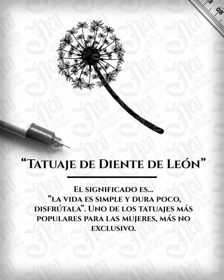 Tatuaje De Diente De León Tattoo