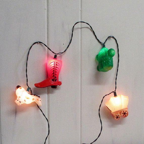 String Lights In Nursery : Western Light Covers Cowboy Party Light String Nursery Night Lights Light covers, Cowboy party ...