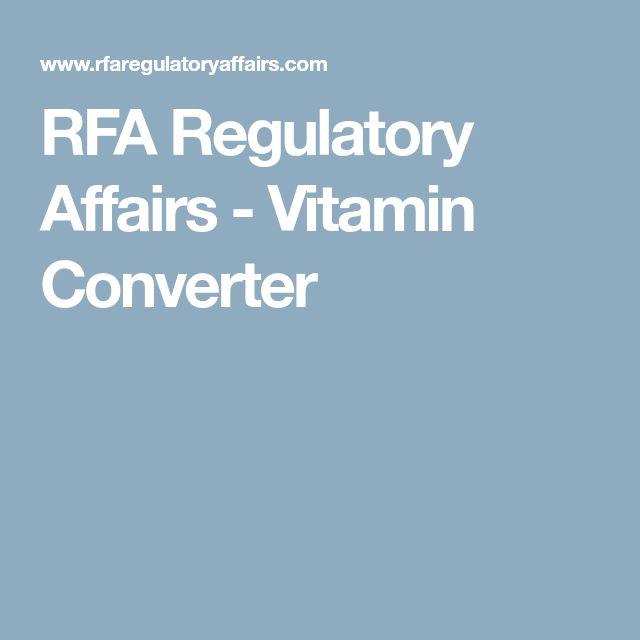 RFA Regulatory Affairs - Vitamin Converter