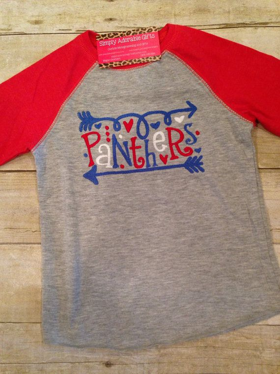 School Spirit Raglan tee Football Shirt by SimplyAdorableGifts