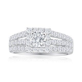 Ring, engagement ring, fancy solitaire ring, diamond ring, online jewellery, gold, grahams jewellers