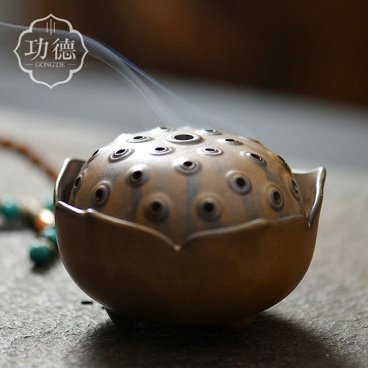 Retro Lotus Ceremics Incense Burner Creative Home Use Living Room Temple Sandalwood Incenses Aroma Burners Censer