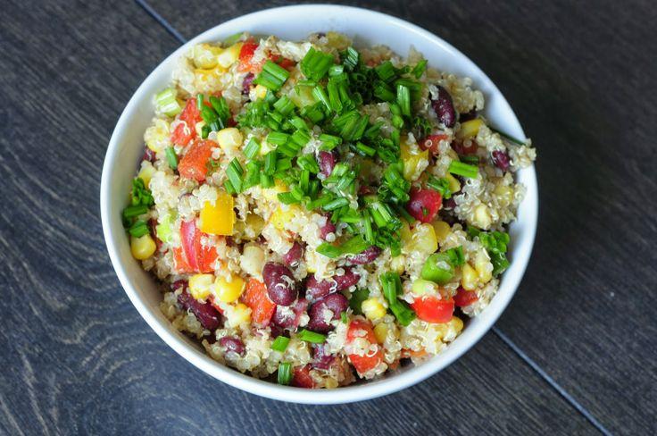 Southwest Quinoa Salad. Easy and Gluten-free! #vegan #recipes