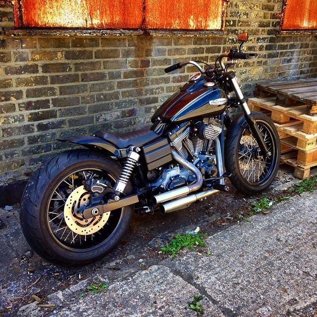 Trev's 2008 Harley Davidson Superglide with stock length Voodoo Fender, Weeli seat and Zombi bars | Rocket Bobs