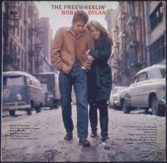 Bob Dylan & Suze Rotolo on the Freewheelin' Bob Dylan album cover