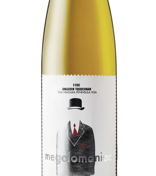MEGALOMANIAC NARCISSIST RIESLING (V)   VINTAGES 67587 | Price: $17.95   We tried this at the winery but it is available in the LCBO too. Surprisingly complex for a Niagara Riesling