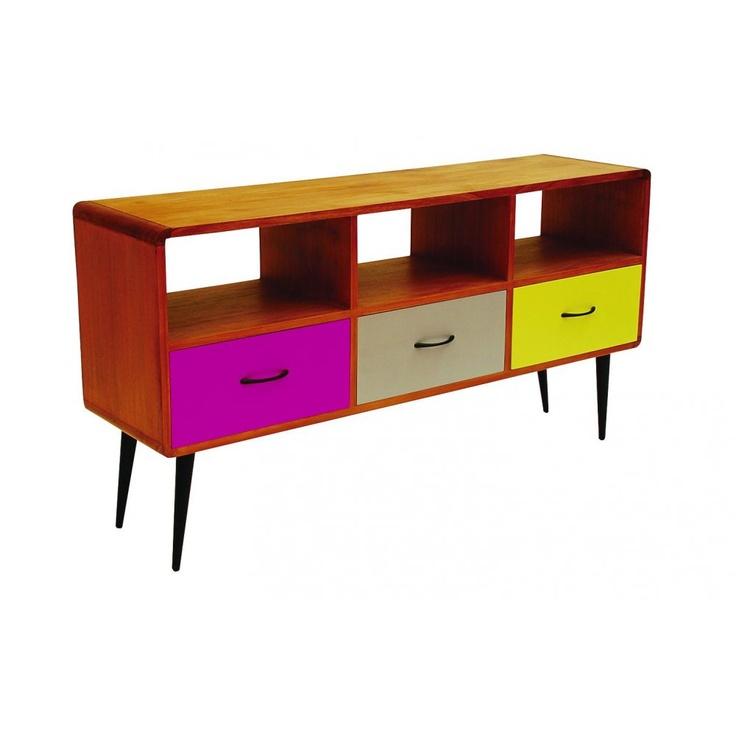 Libra Furniture multicoloured retro media unit - Media Cabinets from Fusion Living