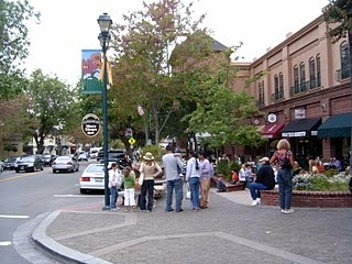 Main St. in Pleasanton, California where I lived for eight years
