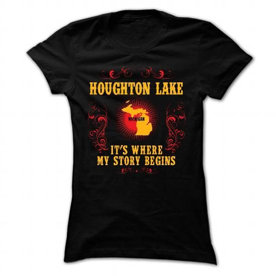 Houghton Lake - Its where story begin - #southern tshirt #sweater dress outfit. ORDER HERE => https://www.sunfrog.com/Names/Houghton-Lake--Its-where-story-begin-Black-Ladies.html?68278