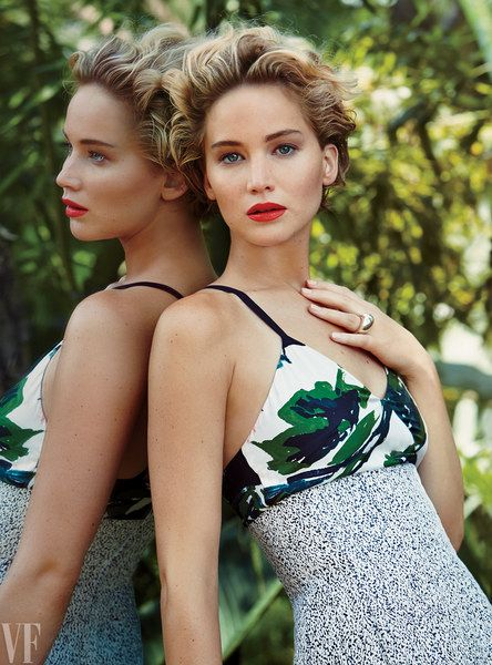 Jennifer Lawrence poses for photographer Patrick Demarchelier.