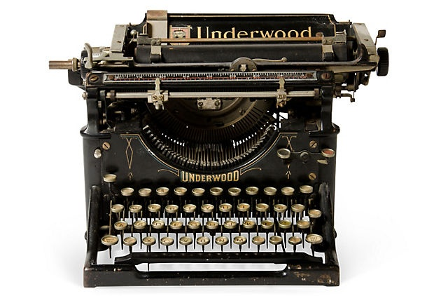 Black Underwood Typewriter, C 1910