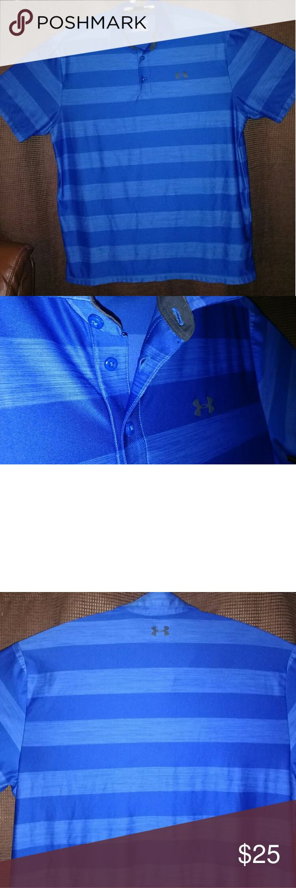 XL-Under Armour Polo Coolswitch Loose Performance Almost new and unused. No stains or rips. Great for sunny day. Keeps cool. Blocks IR and heat rays. 30+ UPF. Whicks sweat and dries fast. 6.5oz.  All offers will be considered. Please post any questions or comments.Will reply asap. Under Armour Shirts Polos