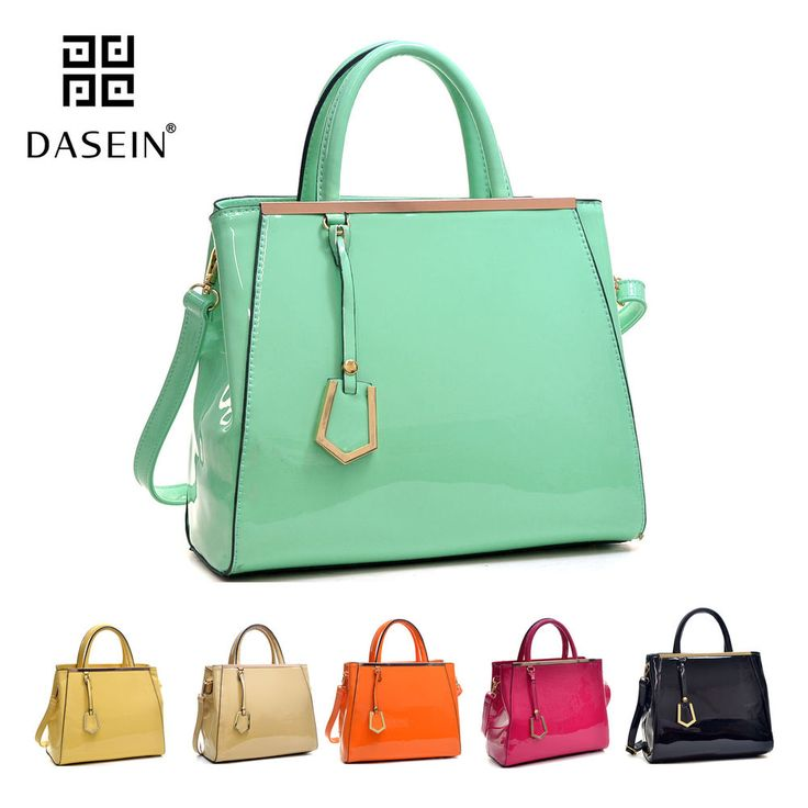 160f73475dbf New Dasein Women Handbag Patent Faux Leather Work Satchel Tote Bag Medium  Purse
