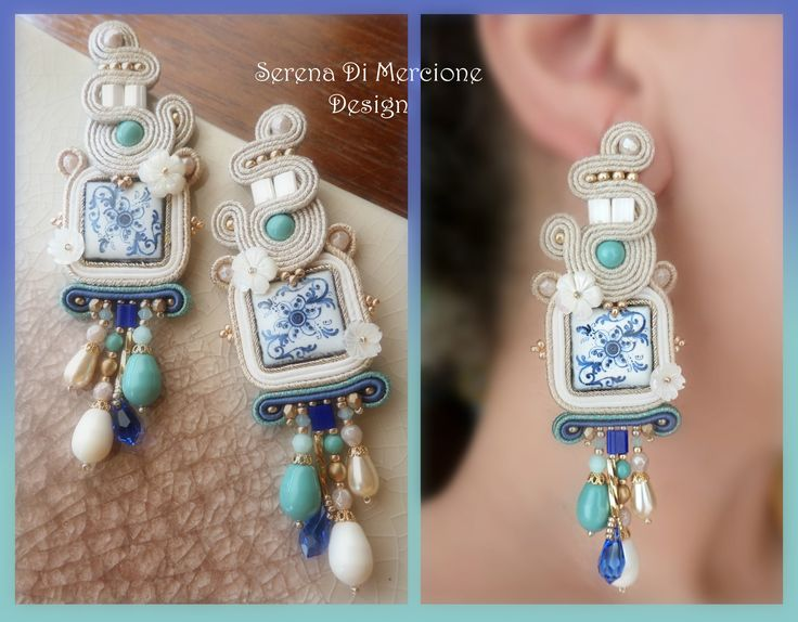 Soutache Earrings by Serena Di Mercione - #soutache #majolica #maiolica