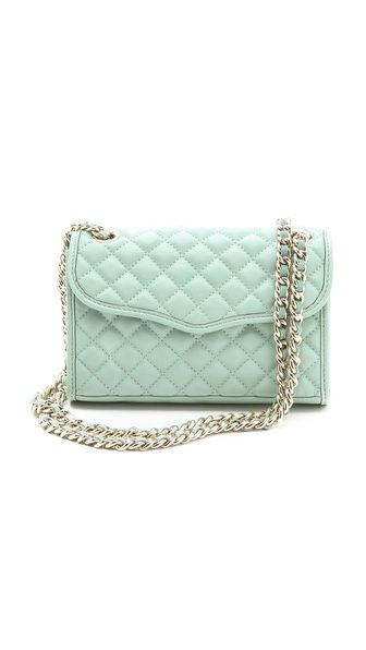 minty fresh! {Rebecca Minkoff Quilted Mini Affair Bag}