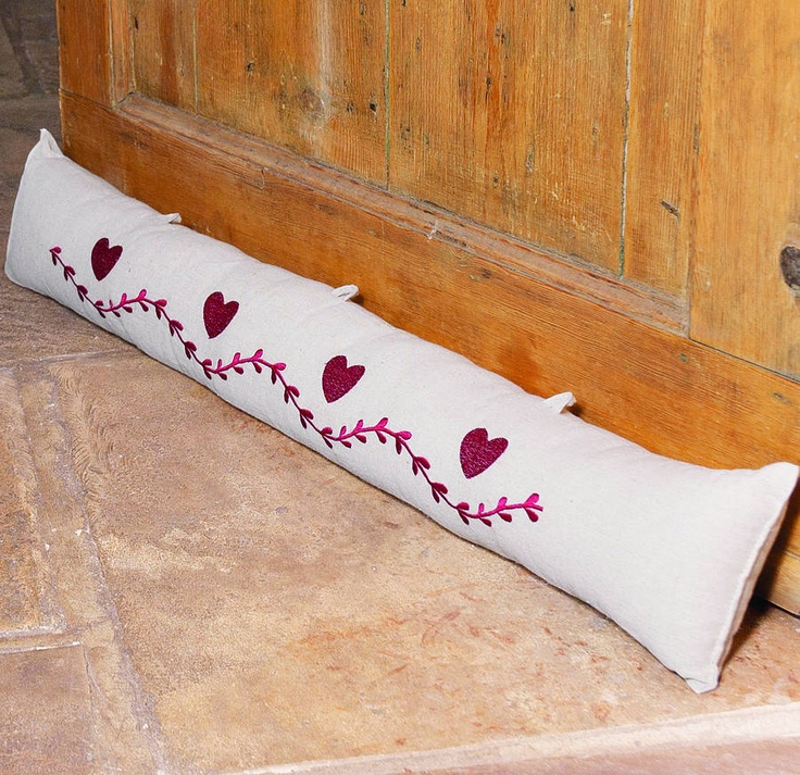 Heart Draught Excluder - fab little hooks to attach to door