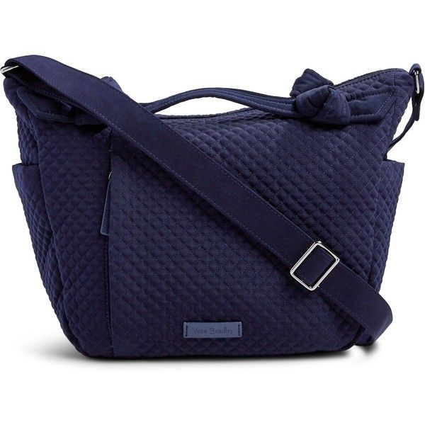 Vera Bradley Hadley On the Go Satchel ($108) ❤ liked on Polyvore featuring bags, handbags, vera vera classic navy, vera bradley purses, blue crossbody purse, navy purse, navy blue handbags and blue handbags