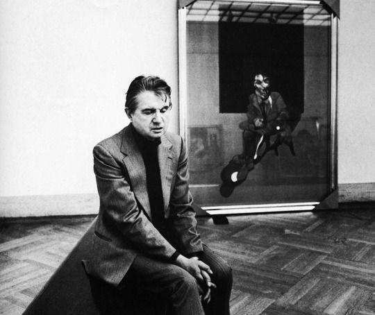 Francis Bacon by Harry Benson, 1975.