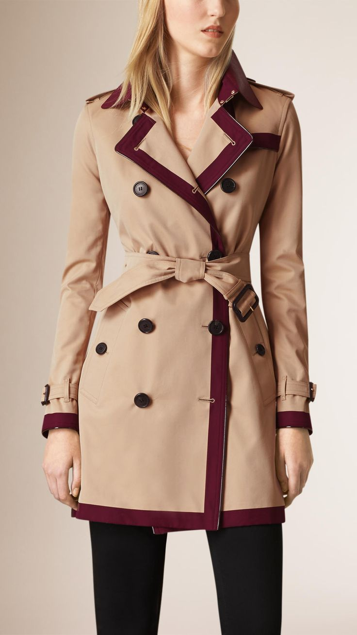 Trench-coat en coton color-block Mûre De Boysen | Burberry