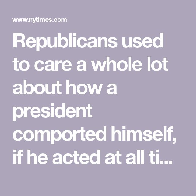 "Republicans used to care a whole lot about how a president comported himself, if he acted at all times with the dignity his station demands. ""Is Obama Disrespecting the Oval Office?"" Fox News asked with a link to images of him and his aides tossing a football, or eating apples inches from the Resolute desk. But hey, that was then! Now there's a whole new bar for tolerable conduct by the commander in chief. This list ensures Republicans never forget what they now condone in a president."