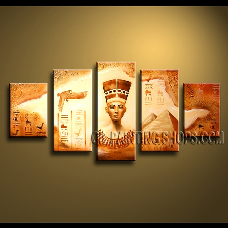 Large Contemporary Wall Art High Quality Oil Painting Gallery Stretched Abstract. This 5 panels canvas wall art is hand painted by Anmi.Z, instock - $155. To see more, visit http://OilPaintingShops.com