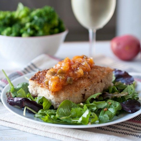 Panko Pork Chops With Jalapeno Peach Jam - learned I'm not a fan of ...