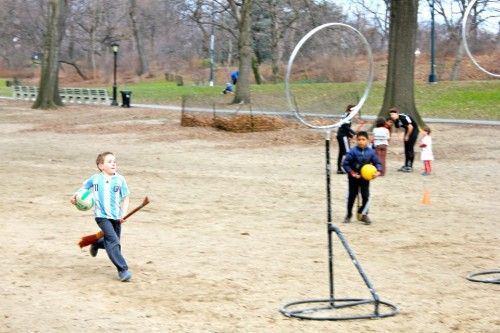 Kids playing Quidditch in Central Park. Awesome.Central Park