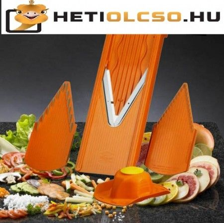 Zöldség-gyümölcs szeletelő V-gyalu